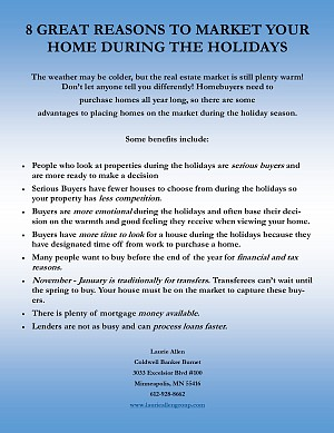 Holidays can be a GREAT time to sell your home...here's why!
